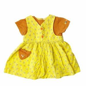 Vintage Catimini bumblebee dress